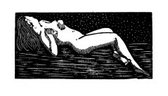 Nude. Wood engraving